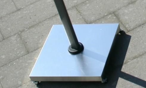 Alu-Abdeckhaube für Plattenständer für Ampelschirme Z Multi- und Singlepole