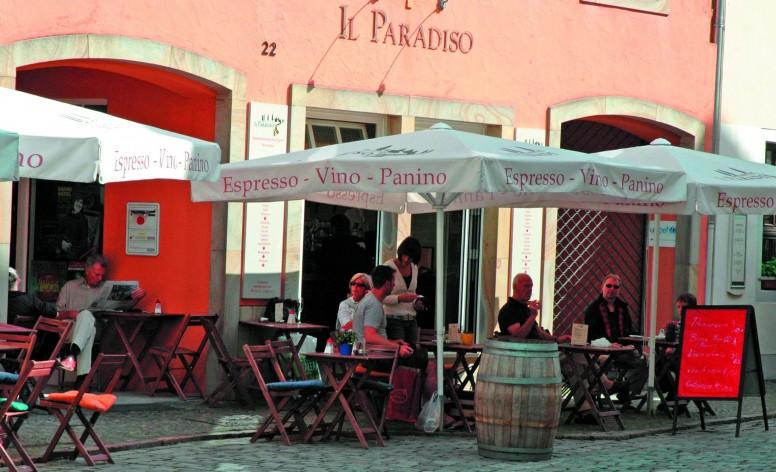 Palma, Alu-Gastroschirm