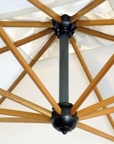 Palladio Braccio, starker Holz/Alu-Ampelschirm