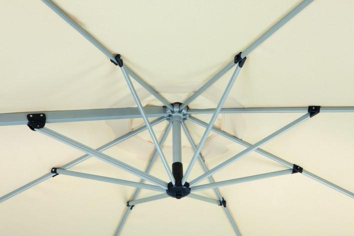 Samos, leichter Alu-Ampelschirm 3m rund