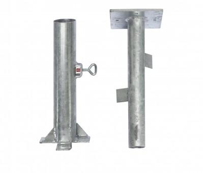 Bodenhülsen mit Flansch Stahl feuerverzinkt