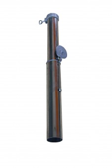 Bodenhülse mit Bajonettverschluss bis 55mm aus Aluminium