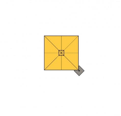 Z Singlepole, Alu-Ampelschirm mit Gasdruckfeder-Öffnung