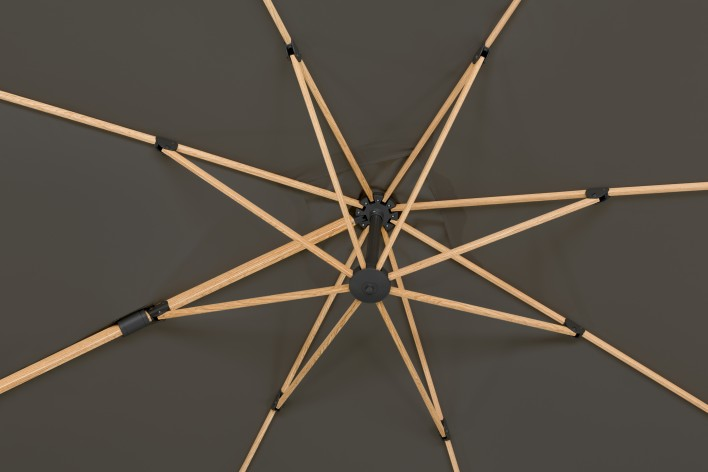 Rhodos Twist 3x3 leichter Alu-Ampelschirm 3-fach verstellbar