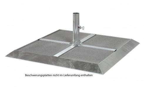 Sicherheits-Rahmen-Ständer feuerverzinkt für 4 Platten