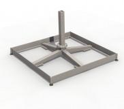 Spezial-Rahmenständer, Stahl verzinkt für Ampelschirm Z Singlepole u. Z Multipole