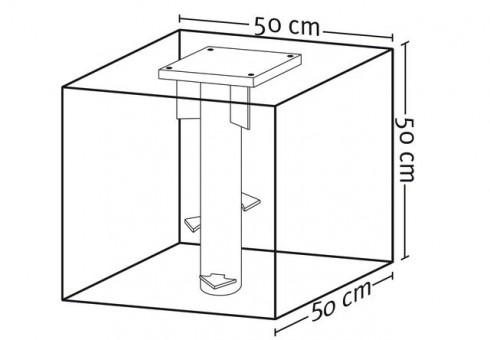 Bodenplatte mit Flansch, verzinkt für Xaver Schneider Ampelschirme