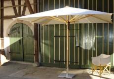 Esche-Schirm di creco, made in Schwaben naturfarben 3x3m quadratisch
